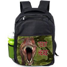 Personalizzato T Rex Zaino Scuola Borsa con Dinosauro Giurassico Zaino PE DP37