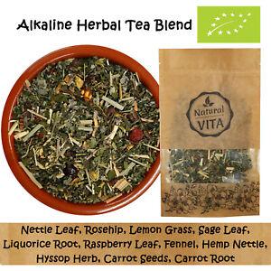 ALKALINE PREMIUM 100% Organic Herbal Blend Dried Herbs Loose Leaf Tea Infusion