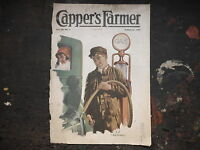Gas Station 1927 CAPPER'S FARMER Cover Only, Vintage picture Farmhouse Farm