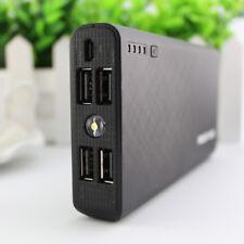 AU Portable 50000mah Power Bank 4usb LED Backup Battery Charger for Iphone7 8 Black