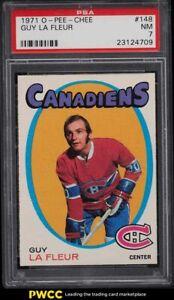 1971 O-Pee-Chee Hockey Guy LaFleur ROOKIE RC #148 PSA 7 NRMT