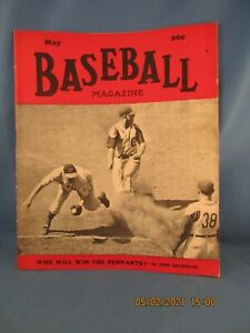 1943 Baseball Magazine - May Issue w/Chicago Cubs on Cover is in good condition