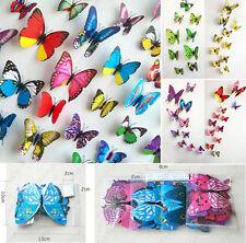 132pcs 3D PVC Butterflies DIY Butterfly Art Decal Home Decor Wall Stickers