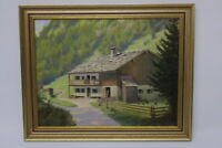 Gustav Müller Gemälde Haus am Hinteren Rossboden 1957