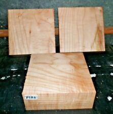 Flame Curly Maple #8283 Wood Workers Special 3 Beautiful Turning Blanks