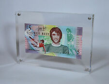 FRAMED LIMITED EDITION GEORGE BEST LEGAL TENDER £5 POUND NOTE PRESENTATION FIVE