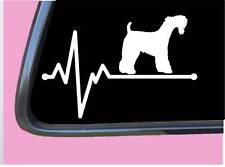 "Kerry Blue Terrier lifeline Tp 555 vinyl 8"" Decal Sticker dog breed heartbeat"