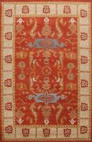 Floral Traditional Oriental Home Decor Area Rug Hand-Tufted Wool 8x11 RED Carpet