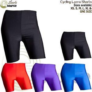 Boys Girls Lycra Sports Cycling Shorts School Gym PE Games Kids Dance Shorts