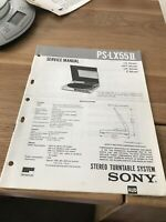 Sony PS-LX55 II  PS-LX55 Mk2    Stereo Turntable Service Manual