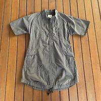 Valerie Gregori McKenzie SONG-life Size M Dress Shift Shirt Faded Green