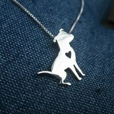 "Bull) - New - Free Shipping Pretty Pittie Sterling Silver 18"" Necklace (Pit"