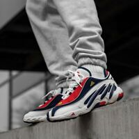 Adidas Originals Solution FYW 98 Navy Blue White Red Torsion UK 9 OG Retro EQT