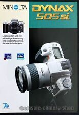 Minolta Prospekt MINOLTA DYNAX 505si & Objektive Kamera Broschüre (X2595