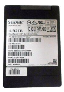 SANDISK CLOUDSPEED ECO GEN II, SXPLFA SDLF1CRR-019T-1HAP, 1.92TB SATA SSD