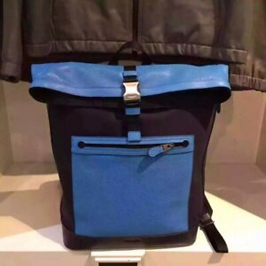 F72077 Coach Getaway Back Pack In Perforated NTW Azure Blue