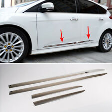 Stainless Side Door Line Body Molding Chrome Trim Cover For Ford Focus 2012-2018