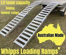 Aluminium Mower Ramps 1.5 Tonne Capacity 3 Metres Curved Folding