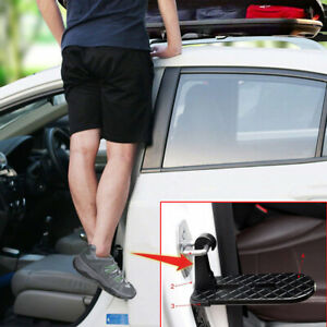 1pc Folding Car Door Latch Hook Step Mini Foot Pedal Ladder For Pickup SUV Roof