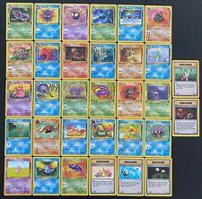 Lot complet des 32 Cartes Pokémon Communes / Uncos FOSSILE /62 Wizard FR ED1
