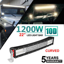 "22''INCH 1200W CURVED LED LIGHT BAR SPOT FLOOD COMBO Offroad LAMP BOAT 24"" 20"""