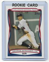George Springer 2010 Topps USA Rookie Card #usa41  qty