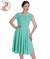 HELL BUNNY 40s EMILIE vintage style WW2 Victory cocktail DRESS MINT