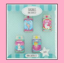 Collectable Drink Carton Eraser Rubber Gift Set - Gift Idea - Rare - Official