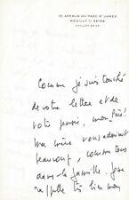 Jean D'ORMESSON / Emouvante lettre autographe signée sur la foi chrétienne. 1975