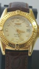 Mint Ladies Breitling 18k Solid Gold Calistino  Factory Diamond Dial Swiss watch