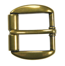 "Heavy Duty Brass Finish Roller Buckle for 1 1/2"" Belts - NEW"