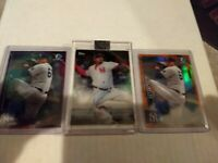 Dellin Betances Lot (3) 2018 Clearly Auth. Auto /99 & 2 Bowman /25 /250 Yankees