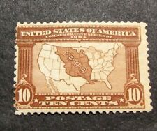 Us Stamp Scott# 327 Map of Louisiana Purchase 1904 Mh C466