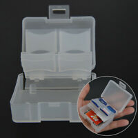 CF Card Compact Flash Memory Card Holder Box Storage Transparent Plastic Case