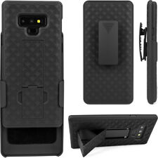 Cell Phone Case For Samsung Galaxy Note9 With Belt Clip Holder Cover Black