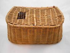 Antique Vintage Freshwater Basket Weave Fly Fishing Creel