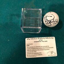 2012 Leaf Autograph Golf Ball PGA Tony Jacklin Signed