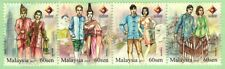 Malaysia 2015 Four Nation Traditional Attire (Strip of 4) ~ Mint