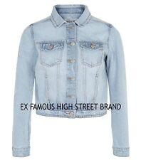 Ladies Womens Girls Ex NEW LOOK Authentic Stonewashed Denim Blue Jacket Size8-18