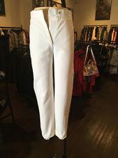 Balenciaga Sz 36 White Cropped Lace Up Back Pants - NWT