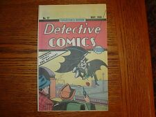 Detective Comics #27 - 1st Batman May, 1939 ( NABISCO Oreo Cookies giveaway)