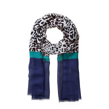 "Codello Suave Viscosa Bufanda ""Coloured LEOPARDO"" 52073706-02 azul marino NUEVO"