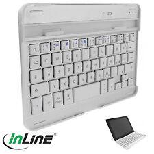 InLine® Bluetooth Tastatur + Alu-Cover für iPad mini, Weiss (176)