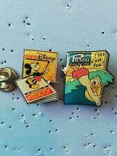 2 Pin's Pins Disney journal magazine