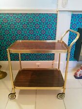 CUTE VINTAGE RETRO HOSTESS COCKTAIL TEA TROLLEY 2 TIER