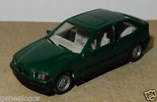MICRO WIKING HO 1/87 BMW SERIE 3 COMPACT VERT FONCE METAL no BOX