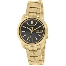 Seiko 5 SNKL88 K1 Gold with Black Dial Men's Automatic Analog Watch