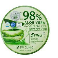 98% Pure ALOE VERA SOOTHING & MOISTURE GEL Paraben FREE 3W CLINIC 300g/10.58oz