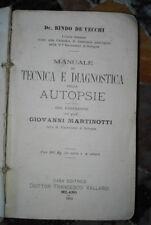 1914 - Manuale di tecnica e diagnostica delle autopsie