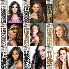 20Inch Easy Loop Micro Ring Bead Tip Curly Remy Real Human Hair Extensions 0.5gr